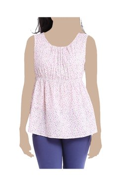 United Colors Of Benetton Pink Floral Print Top