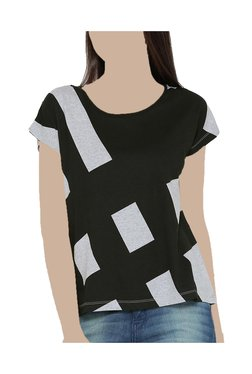 United Colors Of Benetton Black Printed Top