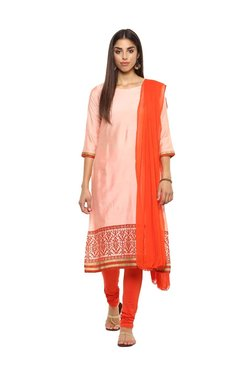 Imara Peach & Orange Printed Suit Set