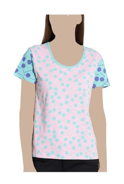 United Colors Of Benetton Pink & Blue Printed Top