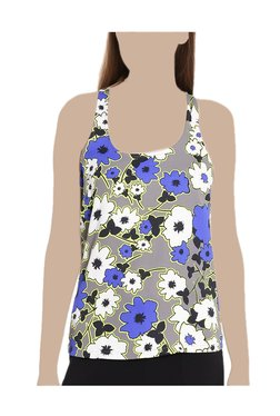 United Colors Of Benetton Grey Floral Print Tank Top