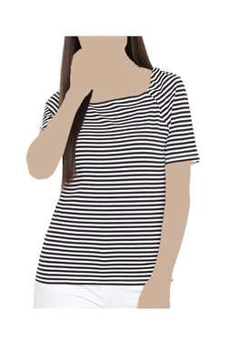United Colors Of Benetton Black & White Striped Top