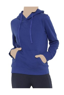 United Colors Of Benetton Navy Textured Hoodie