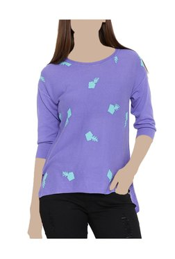 United Colors Of Benetton Purple Printed Top