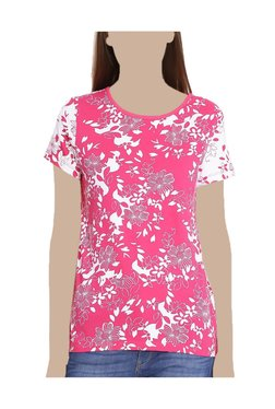 United Colors Of Benetton Pink Floral Print T-Shirt