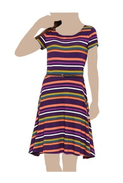 United Colors Of Benetton Multicolor Knee Length Dress