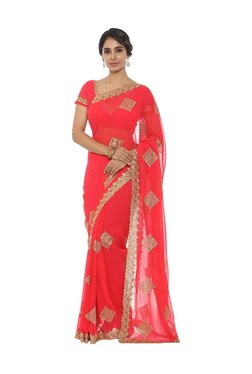 ec45dbf2690b9 Soch Pink Embroidered Saree With Blouse