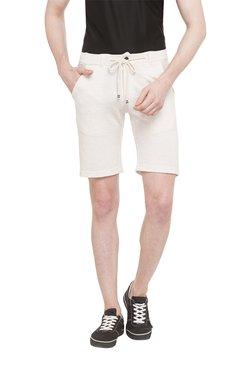 Status Quo Beige Cotton Mid Rise Shorts