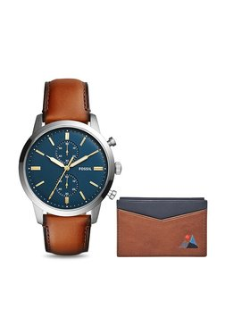 Fossil FS5392SET Townsman Analog Watch For Men With Wallet Box Set
