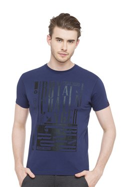 Royal Challengers By Status Quo Navy Round Neck T-Shirt