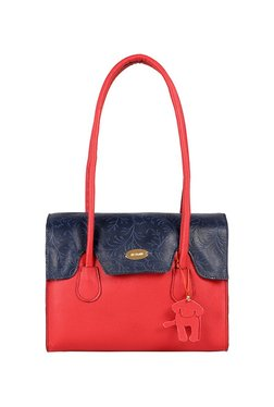 St.Holii By Holii Ivy 01 Red & Navy Color Block Shoulder Bag