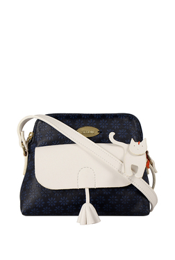 St.Holii By Holii Cherry 01 Navy & White Embossed Sling Bag