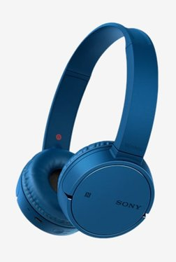 Sony WH-CH500 On The Ear Wireless Headphones with Mic (Blue)