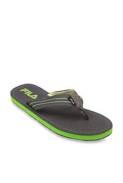 0343f375275f58 Fila Eddy Olive Flip Flops