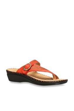 7e51e42c8 Scholl by Bata Orange Casual Wedges