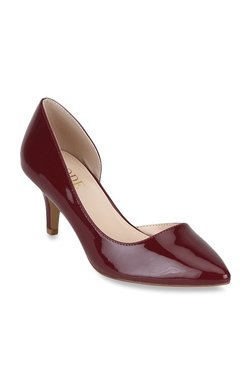 04367c38a37 Mode by Red Tape Burgundy D orsay Stilettos
