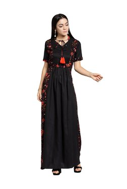 Plus S Black Floral Print Maxi Dress - Mp000000003800389