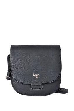 dd1c667fc1 Baggit L Triton Y G Z Angie Black Solid Flap Sling Bag