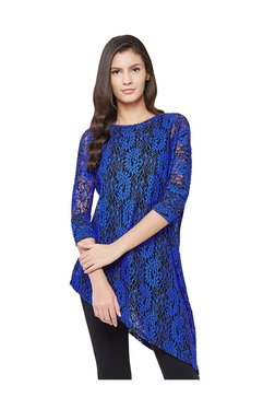 AND Dark Blue Lace Top