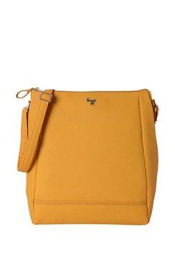 e0c2b43221fa Baggit L Mousse Y G Z Krispa Mango Yellow Solid Sling Bag