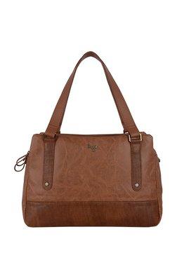 Baggit L Dox Y G Z Bindas Brown Textured PVC Shoulder Bag