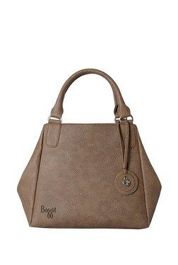Baggit L Salt Y G Z Krispa Smoke Beige Solid Pvc Handbag