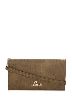 2fc041a6576a Lavie Olive Green Solid Bi-Fold Wallet