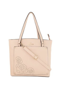 Lavie Light Pink Cut Work Shoulder Bag