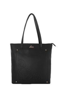 Lavie Black Cut Work Shoulder Bag