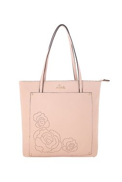 Lavie Pink Cut Work Shoulder Bag