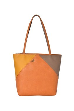 ee3c93f21aeb Baggit L Mixmatch Y G Z Dora Tan   Yellow Color Block Tote