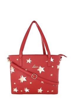 Lavie Red & White Printed Shoulder Bag