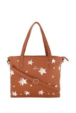 Lavie Brown & White Printed Shoulder Bag