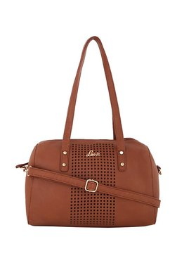 Lavie Brown Cut Work Shoulder Bag