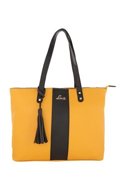 Lavie Yellow & Black Tassel Shoulder Bag