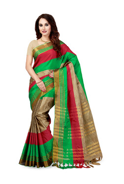 Ishin Multicolor Printed Saree With Blouse