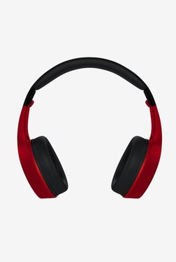 Molife Groove BTHP01 Over The Ear Wireless Bluetooth Headphones (Black/Red)