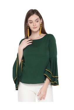 MsFQ Green Full Sleeves Top