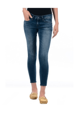 Pepe Jeans Blue Super Skinny Fit Low Rise Jeggings