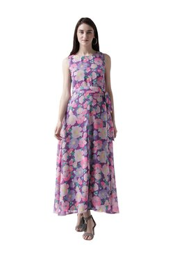 MsFQ Purple Floral Print Maxi Dress