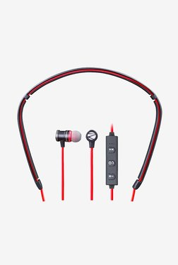Zebronics FLEX Bluetooth Earphones With Mic (Red/Black)