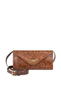 St.Holii By Holii Disa 01 Brown & Tan Flap Sling Bag