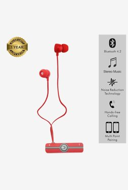 Portronics Harmonics 206 Por 837 Wireless Earphone (Red)