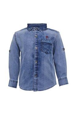 b48c5fda9c9 Tales   Stories Kids Light Blue Textured Shirt