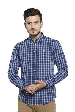 2515b6207cf9e Red Tape Dark Blue Full Sleeves Cotton Shirt