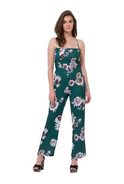 0069c0bf7df2 Kazo Teal Floral Print Maxi Jumpsuit