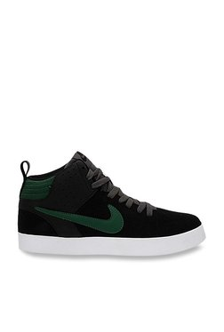 low priced f7786 c2b55 Nike Liteforce III Mid Black   Green Ankle High Sneakers