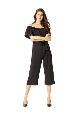 Miss Chase Black Short Sleeves Jumpsuit