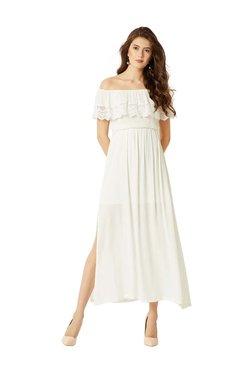 Miss Chase White Lace Pattern Maxi Dress