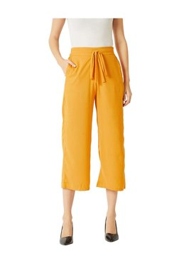 Miss Chase Yellow High Rise Culottes